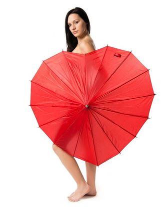 Obrázek Deštník srdce - červený
