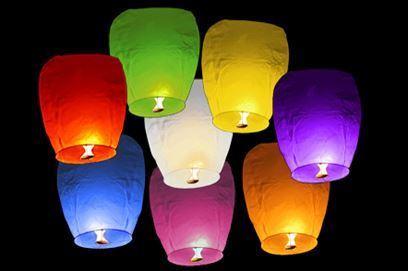 Obrázek z Lampiony štěstí 10 ks mix barev