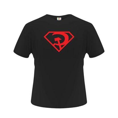 Obrázek Pánské tričko - CCCPman - černé - L