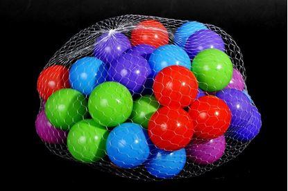 Obrázek Plastové míčky 100 ks (8 cm)