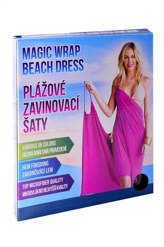 Plážové zavinovací šaty - bílé