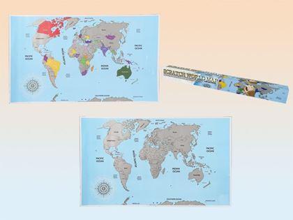 Obrázek z Stírací mapa světa