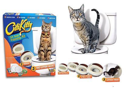 Obrázek Záchodové prkénko pro Vaši kočku CitiKitty Cat Toilet