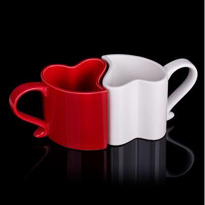 Obrázek Zamilované hrníčky - bílo-červené