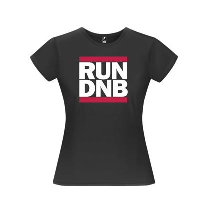 Obrázek Dámské tričko - RUN DNB - černé - S