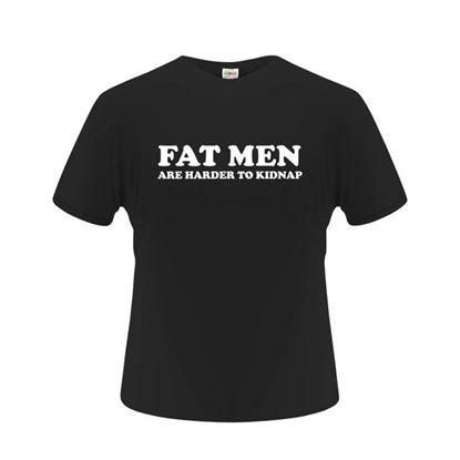 Obrázek Pánské tričko - Fat man - černé - M