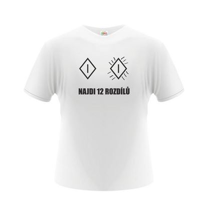 Obrázek Pánské tričko - Najdi 12 rozdílů - bílé - L