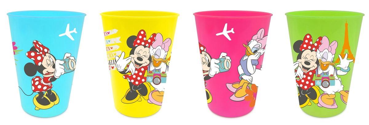 Sada 4 ks plastové skleničky Minnie