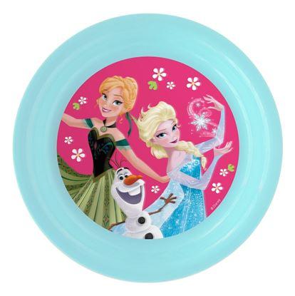 Obrázek 3D plastový talíř Ledové království