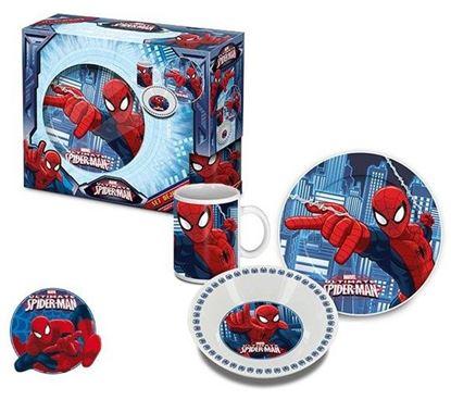 Obrázek 3dílná porcelánová souprava Spiderman