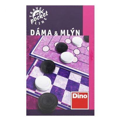 Obrázek Cestovní hra Dáma a Mlýn