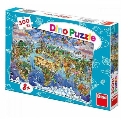 Obrázek Puzzle 300 - Ilustrovaná mapa světa