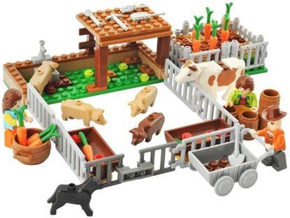 Obrázek Stavebnice AUSINI farma ohrada 177 dílků