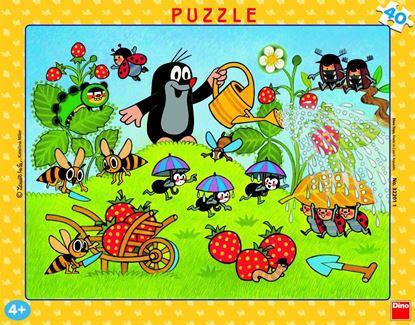 Obrázek Puzzle 40 - Krtek v jahodách