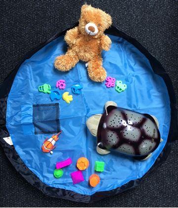 Obrázek z Vak na hračky modrý - malý