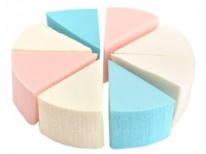 Obrázek Fashion Cosmetic trojúhelníkové houbičky na make-up 8 ks