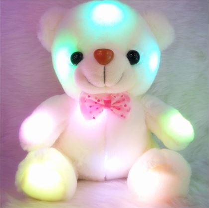Obrázek z Svítící medvídek - bílý