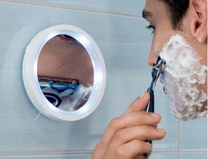 Obrázek z Kosmetické zvětšovací zrcátko s osvětlením