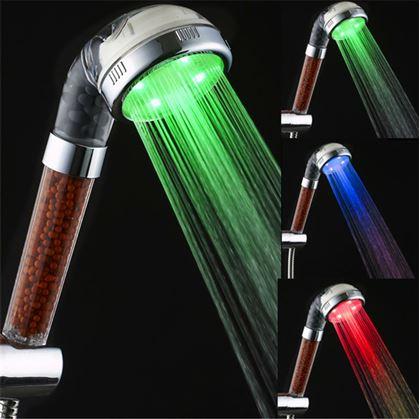 Obrázek z Barevná svítící LED sprcha s kamínky