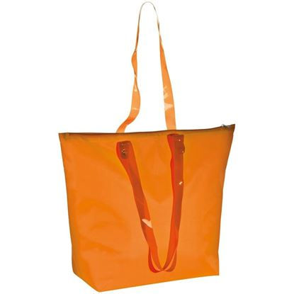Obrázek Plážová taška s průhlednými uchy - oranžová