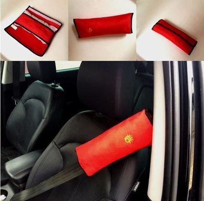 Obrázek z Cestovní polštář do auta na pás - červený