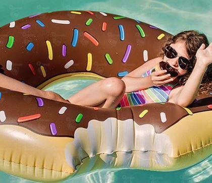 Obrázek z Nafukovací kruh Donut - čokoládový