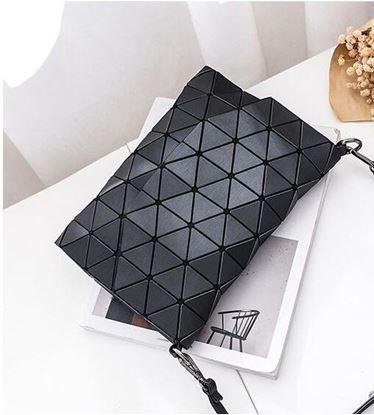 Obrázek Geometrická kabelka - matná černá