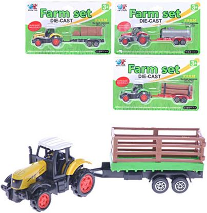 Obrázek Traktor 16 cm - farmářský set
