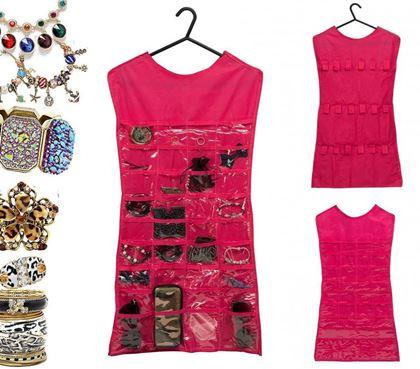 Obrázek z Organizér na šperky - růžová barva