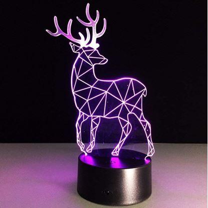 Obrázek Lampa s 3D iluzí - jelen