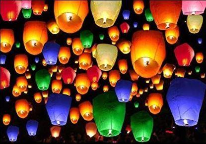Obrázek Lampiony štěstí 20 ks mix barev