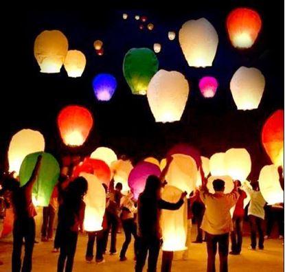 Obrázek Lampiony štěstí 50 ks mix barev