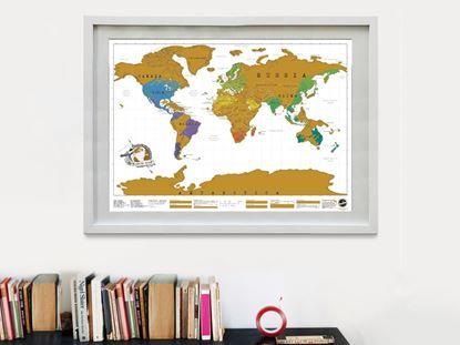 Obrázek Stírací mapa světa - deluxe