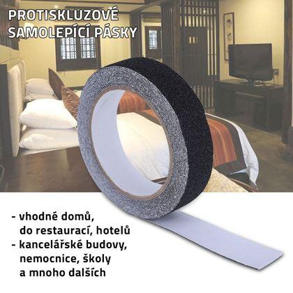 Obrázek z Protiskluzové samolepící pásky - černé