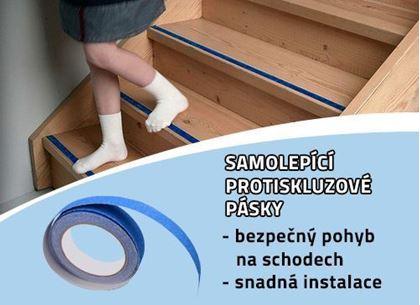 Obrázek z Protiskluzové samolepící pásky - modré