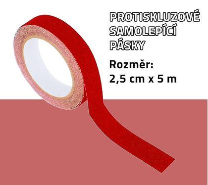 Obrázek z Protiskluzové samolepící pásky - červené