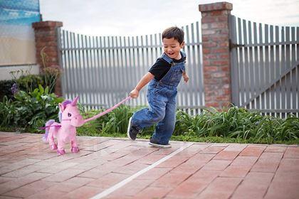 Obrázek z Chodící jednorožec - růžový