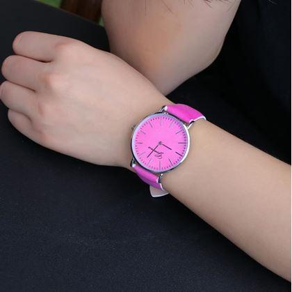 Obrázek z Hodinky měnící barvu - růžové