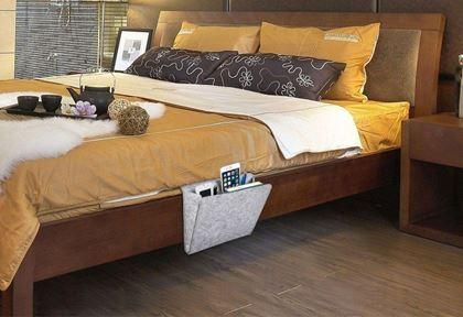 Obrázek z Organizér na postel - šedivý