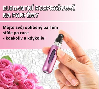 Obrázek Elegantní rozprašovač na parfémy - růžový