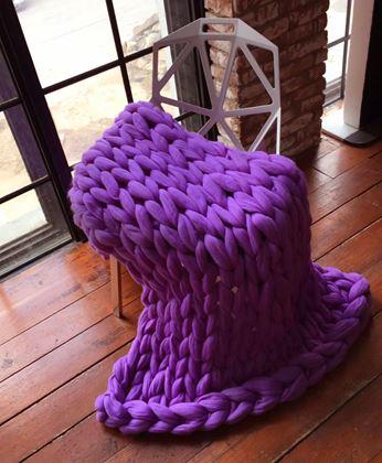 Obrázek z Příze pro ruční pletení - fialová