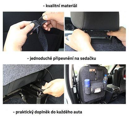 Obrázek z Pořadač na sedačku do auta - černý