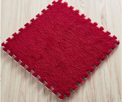 Obrázek Puzzle Kobereček - 6 Ks - červený