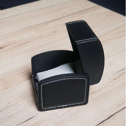 Obrázek z Koženková dárková krabička - černá
