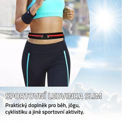 Obrázek z Sportovní ledvinka slim - červená