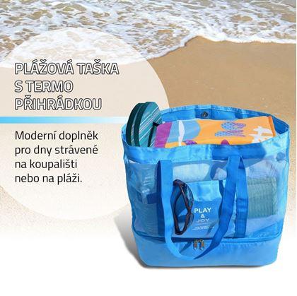 Obrázek z Plážová taška s termo přihrádkou - modrá