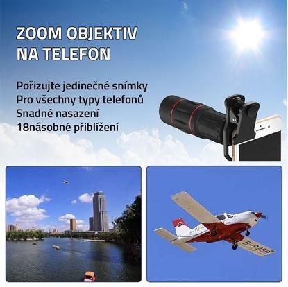 Zoom objektiv na telefon