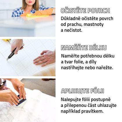 Obrázek z Fólie na obnovu kuchyňské linky - bílá