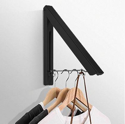 Obrázek z Skládací věšák na oděv - černý