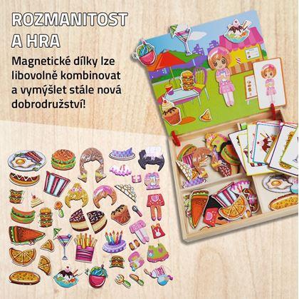 Obrázek z Dřevěná magnetická tabulka deluxe - Letní pohoda